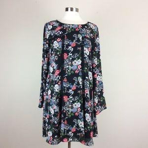 Miami floral print boho dress